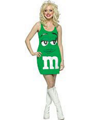 Green M&M Dress Costume Adult