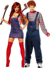Sexy Chucky and Chucky Couples Costumes