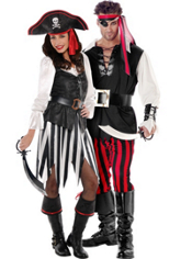 High Seas Sweetheart Pirate and Swashbuckler Pirate Couples Costumes