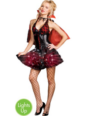 Light-Up Moon Light Bite Vampire Costume Adult