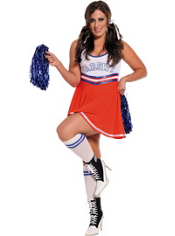 Plus Size Team Captain Cheerleader Costume Adult