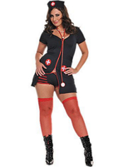 Adult Naughty Night Nurse Costume Plus Size