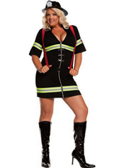 Plus Size Ms. Blazin' Hot Firefighter Costume Adult