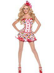 Sexy Cupcake Girl Costume Adult