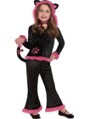 Girls Cuddly Kitty Costume