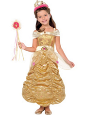 Girls Glitter Belle Costume