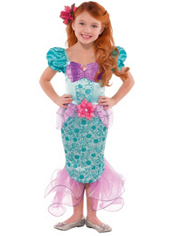 Princess Ariel Costume Girls