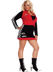 Plus Size High Speed Hottie Race Car Driver Costume Adult