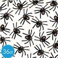 Black and Orange Tip Spiders 36ct