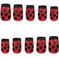 Press-On Ladybug Nails