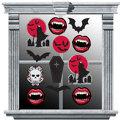 Vinyl Vampire Window Decorations 12pc