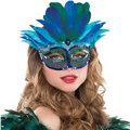 Blue Mystique Feather Mask