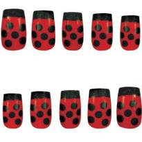 Press-On Ladybug Nails
