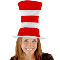 The Cat in the Hat Felt Hat Adult