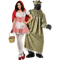 Red Riding Hood and Granny Wolf Couples Costumes