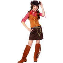 Gunslinger Cowgirl Costume Girls