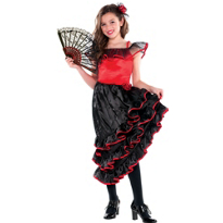 Spanish Dancer Costume Girls
