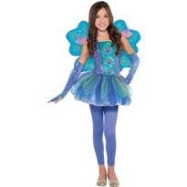 Girls Princess Peacock Costume